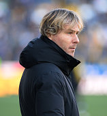 Pavel Nedved of Juventus FC looks on during the Serie A match between Udinese Calcio and Juventus FC at Stadio Friuli on January 17 2016 in Udine...