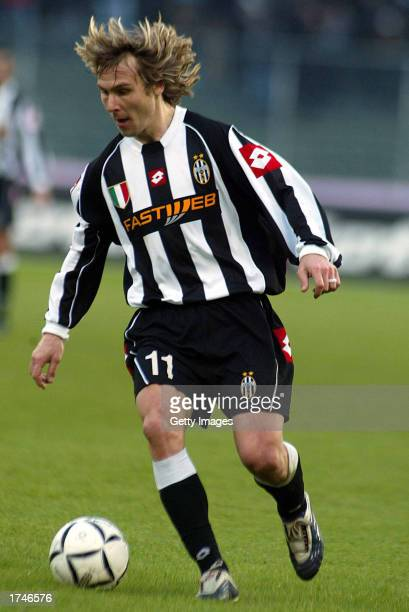 Pavel Nedved of Juventus in action during the Serie A match between Juventus and Piacenza played at the Delle Alpi Stadium Turin Italy on January 26...
