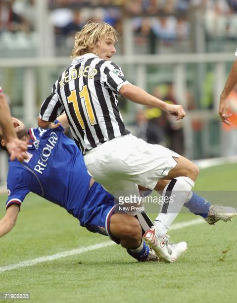Pavel Nedved of Juventus in action during the Serie B match between Juventus and Vicenza at Olimpico Stadium on September 16 2006 in Turin Italy