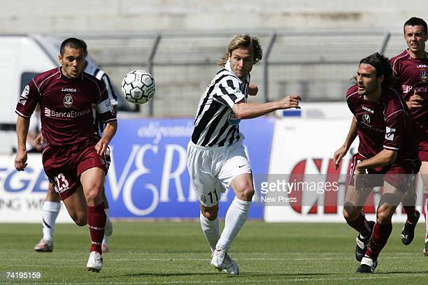 Pavel Nedved of Juventus in action during the Serie B match between Arezzo and Juventus on May 19 2007 in Arezzo Italy