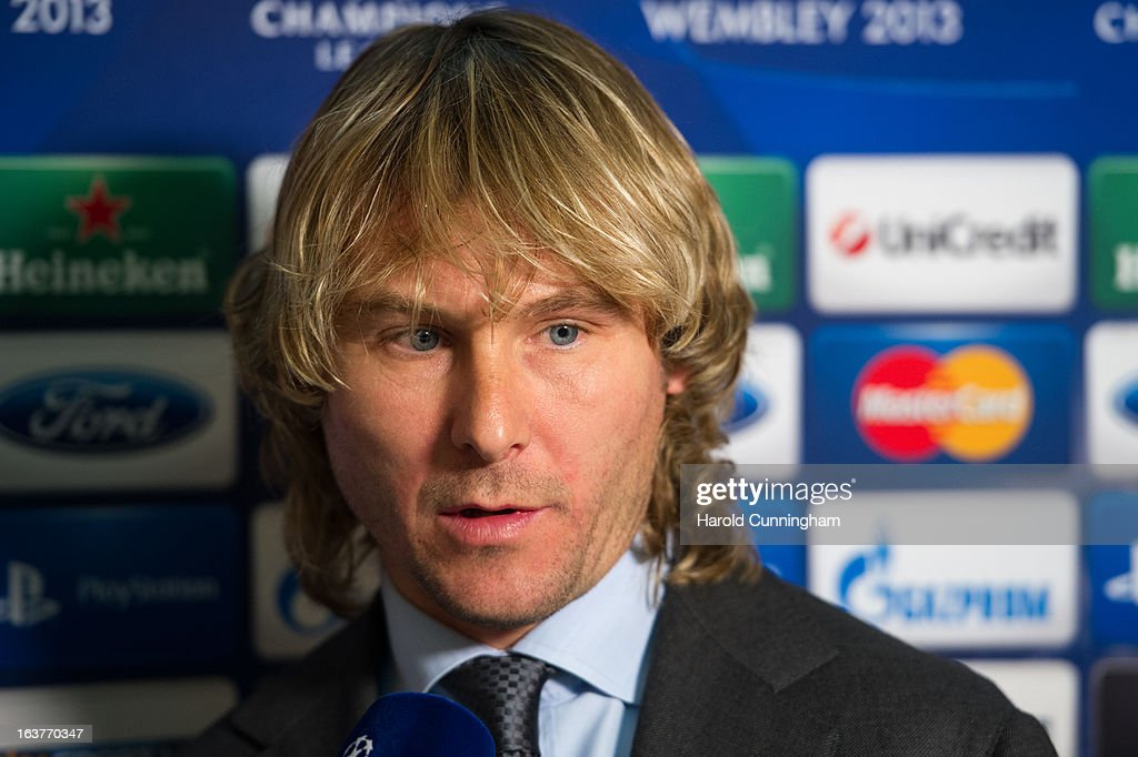 Pavel Nedved of Juventus looks on after the UEFA Champions League quarter finals draw at the UEFA headquarters on March 15, 2013 in Nyon, Switzerland.