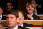 Pavel Nedved of Juventus looks on during the UEFA Champions League quarter finals draw at the UEFA headquarters on March 15 2013 in Nyon Switzerland