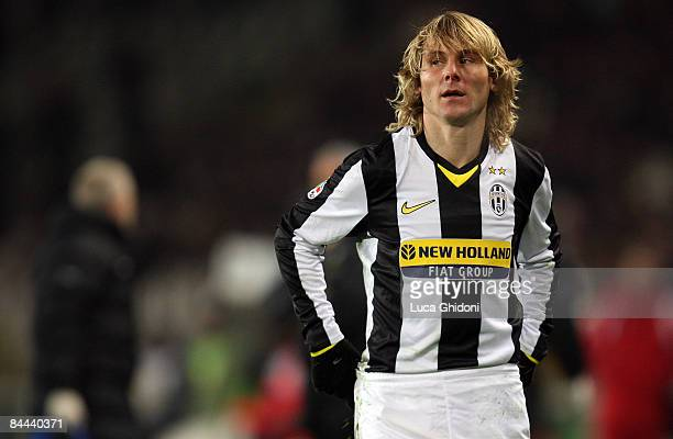 Pavel Nedved of Juventus reacts during the Serie A football match between FC Juventus and ACF Fiorentina at the Olympic stadium on January 24 2009 in...