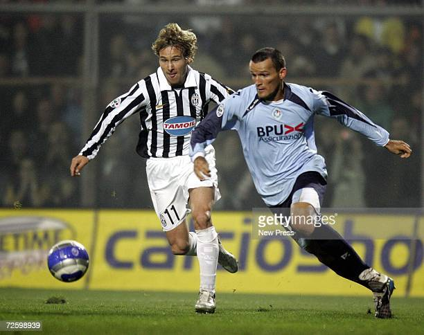Pavel Nedved of Juventus runs with the ball during the Serie B match between Albinoleffe and Juventus at the Atleti Azzurri d'Italia stadium on...