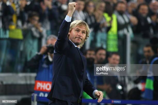 Pavel Nedved vicepresident of Juventus FC before the UEFA Champions League football match between Juventus FC and Sporting CP at Allianz Stadium on...