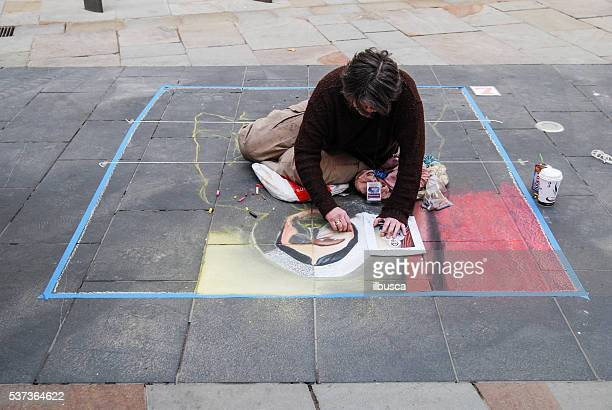 Pavement Art Competition at the Bold Street Festival in Liverpool