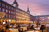 pavement cafes, Plaza Mayor