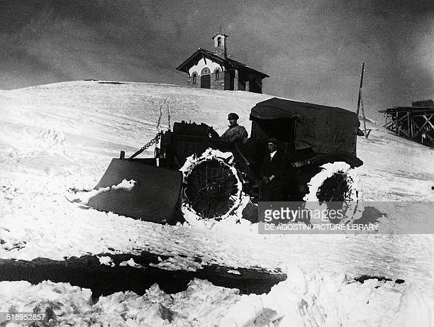 Pavesi P4/100 artillery tractor Sestriere Piedmont Italy
