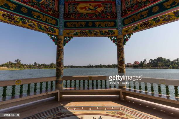 Pavilion at Chao PuYa Chinese Spirit Shrine and Lake adjacent to the ThaiChinese Cultural Centre together they form the focal point of Chaloem...