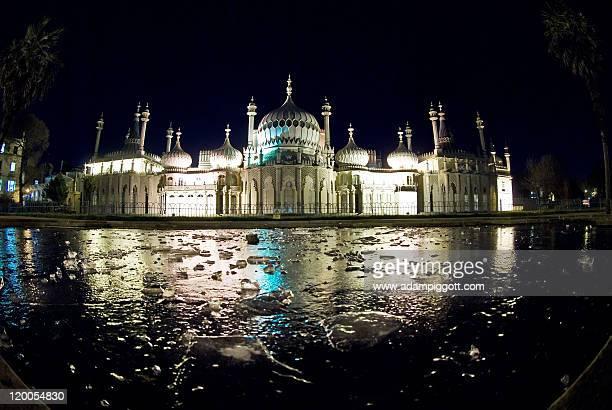 Pavilion at night, Brighton