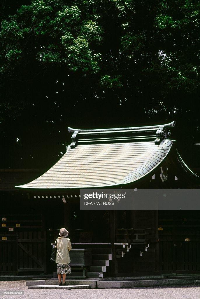 Pavilion in Atsuta shrine, Atsuta-ku, Nagoya, Chubu. Japan ...