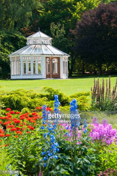Pavilion in formal garden