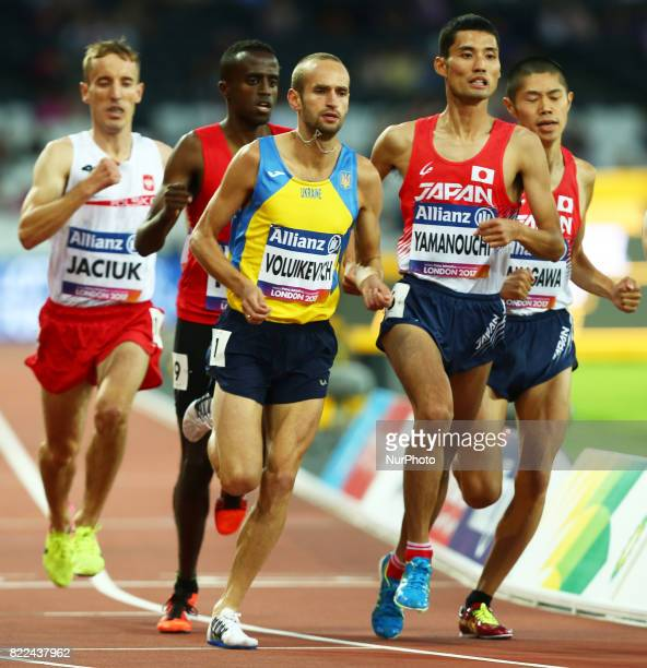 LR Pavio Voluikevych of Ukraine and Yusuke Yamanouchi of Japen compete of Men's 1500m T20 Final during World Para Athletics Championships Day Three...