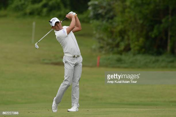 Pavit Tangkamolprasert of Thailand pictured during practice ahead of the Macao Open at Macau Golf and Country Club on October 17 2017 in Macau Macau