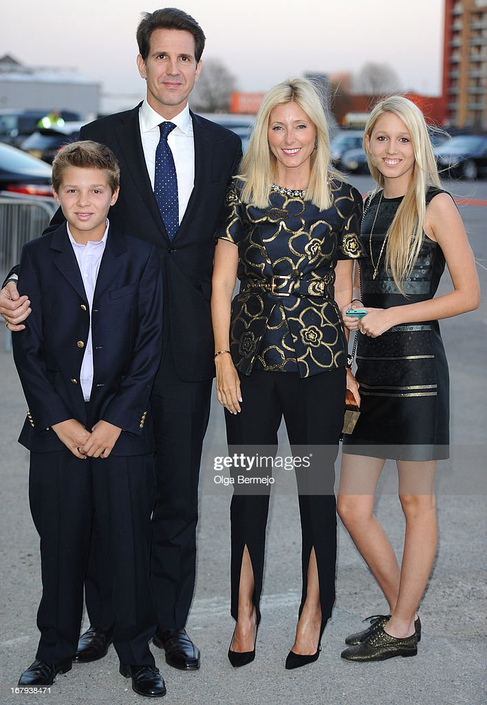 Pavlos, Crown Prince of Greece and his family attend the annual fundraiser in aid of Gabrielle's Angel Foundation for Cancer Research at Battersea Power station on May 2, 2013 in London, England.