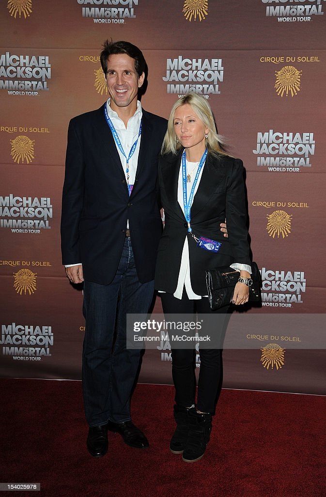 Pavlos Crown Prince of Greece and Princess Marie Chantal attend the opening night of Cirque Du Soleil's 'Michael Jackson The Immortal World Tour' at 02 Arena on October 12, 2012 in London, England.