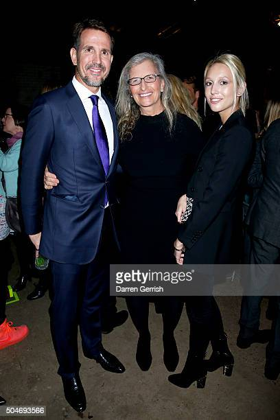 Pavlos Crown Prince of Greece Annie Leibovitz and Princess MariaOlympia of Greece and Denmark attend the opening of 'Women New Portraits By Annie...