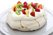 homemade pavlova, meringue cake, New Zealand Australian dessert