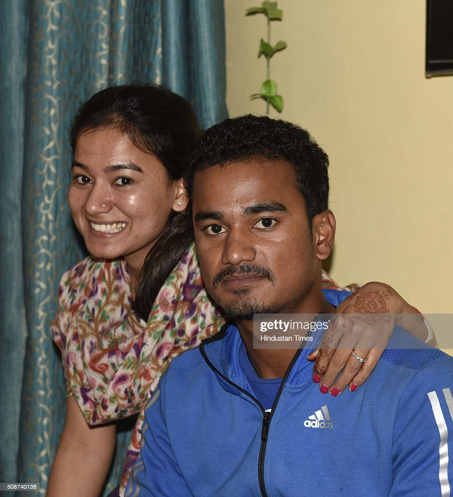 Pawan Negi with his sister at his home after he was bought by Delhi Daredevils Team for IPL season 2016 for 8.5 crores, on February 6, 2016 in New Delhi , India. He is a slow left-arm orthodox bowler. He plays for Delhi in the first-class Ranji Trophy competition, and has also played List A and Twenty20 cricket for the team. His family hails from Almora in Uttarakhand. He studied from Delhi Public School, New Delhi.