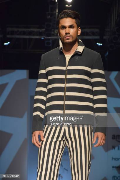 Pawan Sachdeva's Barcode collection at the Fashion Design Council of India's 30th edition of India Fashion Week Spring Summer 2018 held at the...