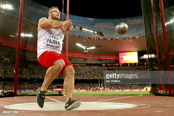 Pawel Fajdek of Poland competes in the Men's Hammer final during day two of the 15th IAAF World Athletics Championships Beijing 2015 at Beijing...
