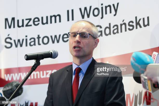 Pawel Machcewicz the Second World War Museum director is seen on 23 March 2017 in Gdansk Poland World War II Museum the biggest of its kind in Poland...