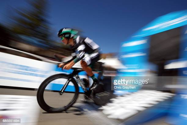Pawel Poljanski of Poland riding for BoraHansgrohe rides during stage five of the AMGEN Tour of California from Ontario to Mt Baldy on May 18 2017 in...