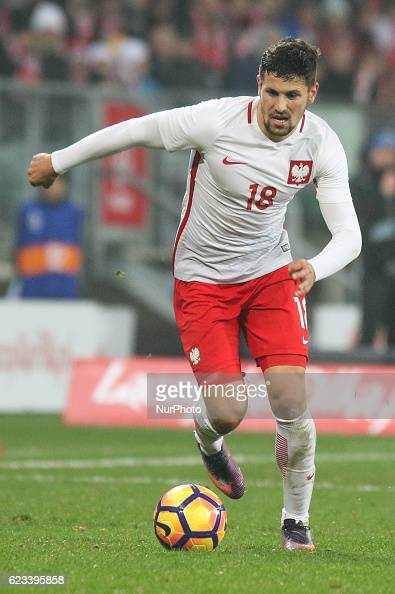 Pawel Wszolek of Poland during the international friendly football match Poland vs Slovenia on November 14 2016 in Wroclaw