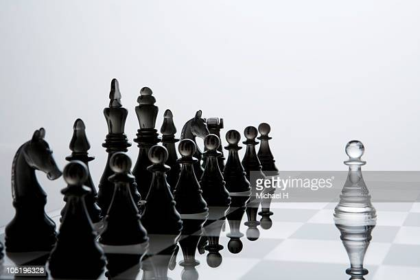 pawn of chess opposite to enemy