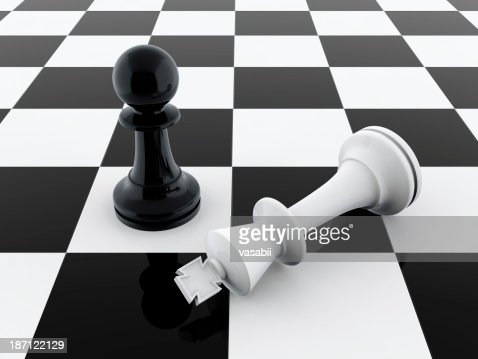 Pawn wins : Stock Photo