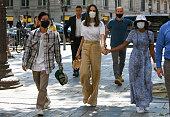 Celebrity Sightings In Paris - July 22, 2021