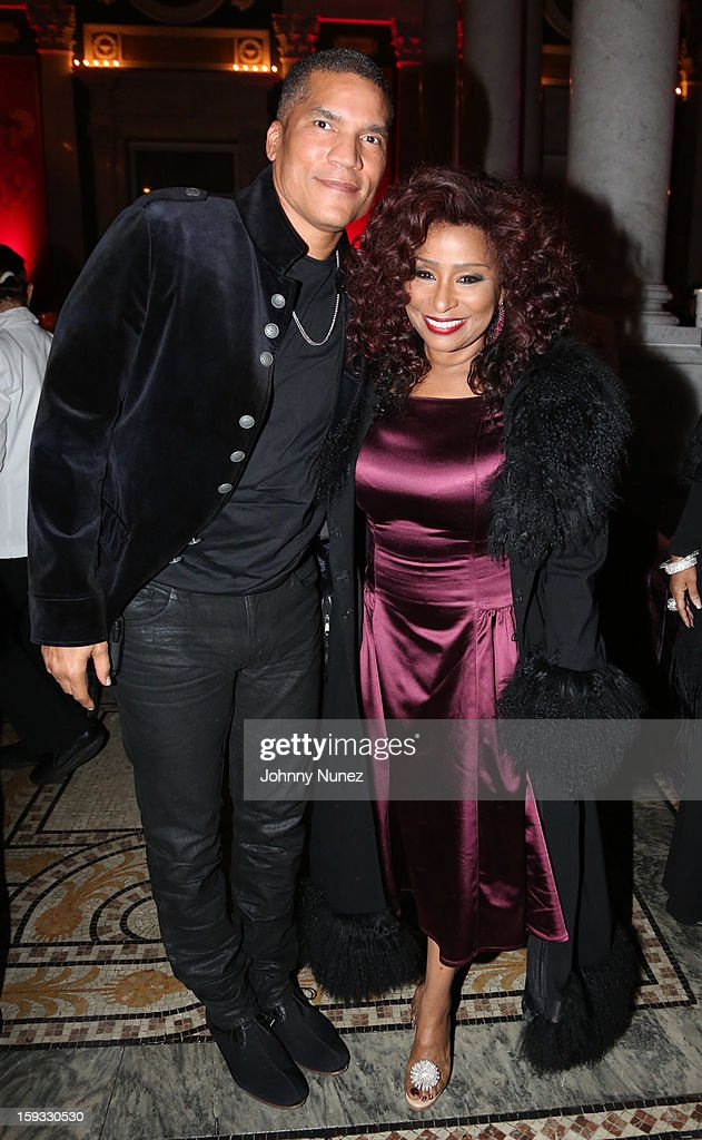 Paxton Baker and Chaka Khan attend the 2013 Debra Lee Pre BET Honors Cocktails & Dinner at The Library of Congress on January 11, 2013 in Washington, DC.