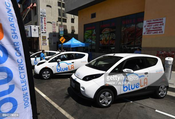A pay and charging station for what is being billed as the nation's largest 'Electric Vehicle' car sharing program for disadvantaged communities was...