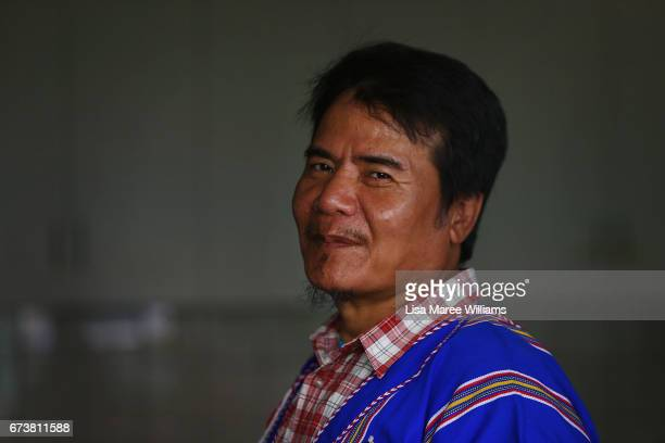 Pay Lay Moon a Burmese Karenni wears a traditional shirt during a visit to a family home on January 27 2017 in Tamworth Australia Tamworth is a large...
