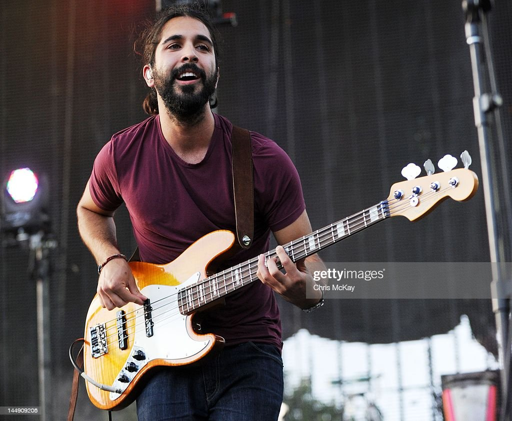Payam Doostzadeh of Young The Giant performs during Party In The Park at Centennial Olympic Park on May 19, 2012 in Atlanta, Georgia.
