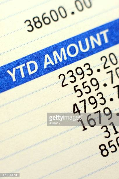 Paycheck with Taxes Deducted - Close Up Photo