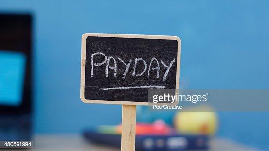 Payday written : Stock Photo