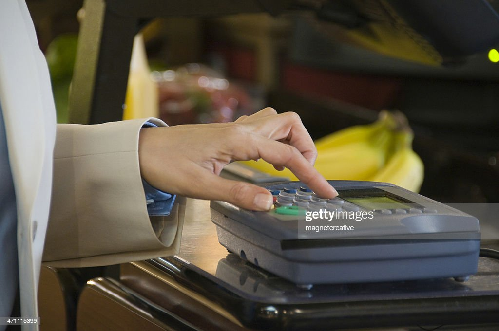Paying at the Grocery Store