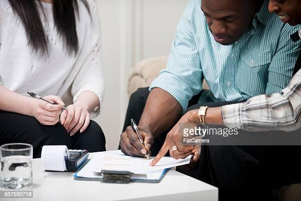Paying Bills at Home