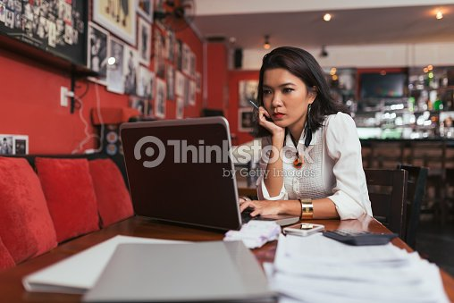 Paying bills online : Stock Photo