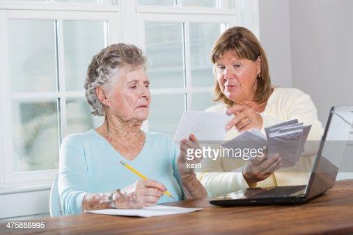 Paying bills : Stock Photo