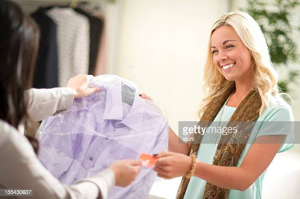 paying for dry cleaning