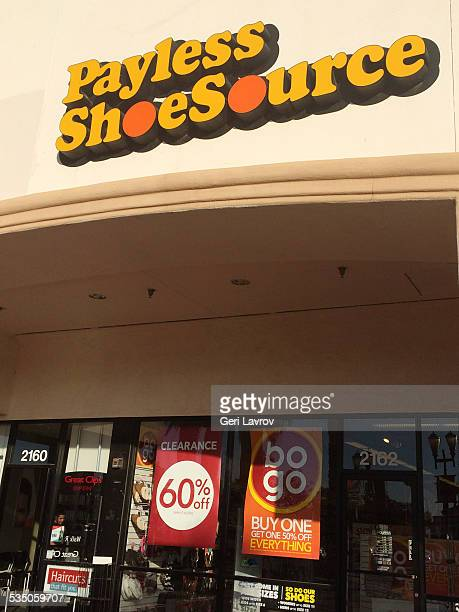 Payless shoes source front entrance in Santa Maria California
