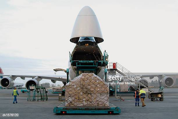 Payload Being Loaded onto a Cargo Plane