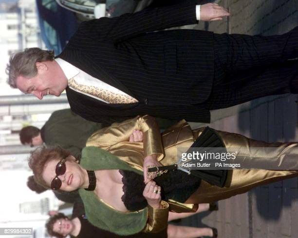 Paymaster General Geoffrey Robinson and his wife MarieElena attend the wedding of MP Yvette Cooper to Chancellor Gordon Brown's aide Ed Balls in...