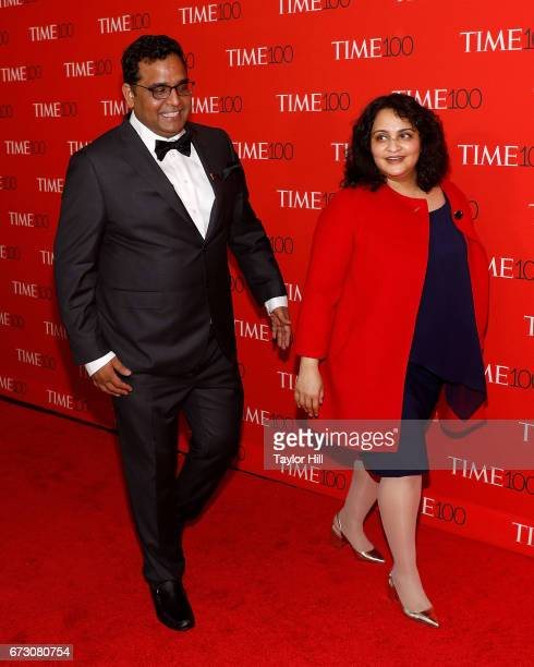 Paytm founder Vijay Shekhar Sharma and Mridula Sharma attend the 2017 Time 100 Gala at Jazz at Lincoln Center on April 25 2017 in New York City