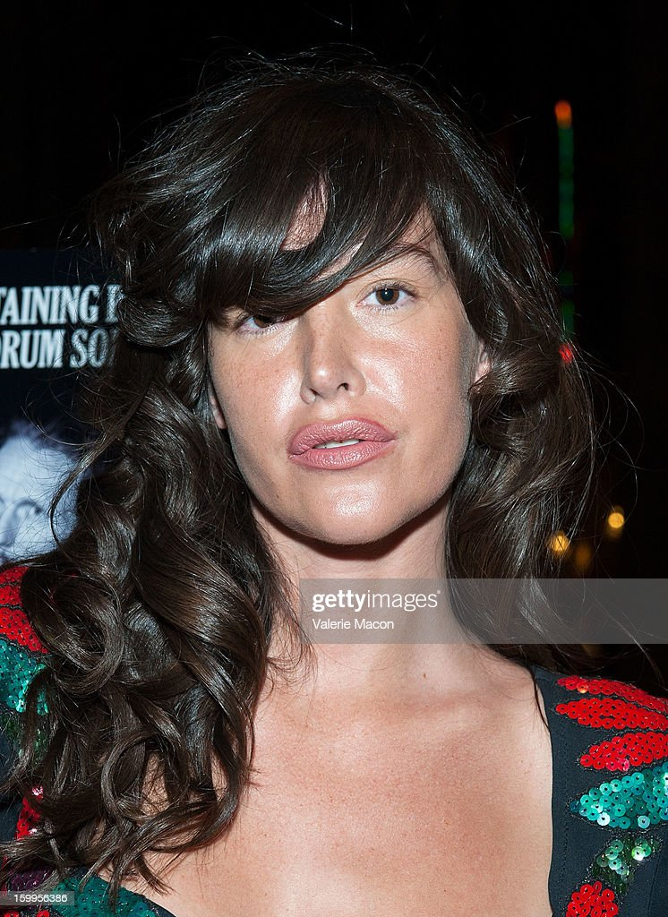 Paz de la Huerta arrives at the screening of SnagFilms' 'Beware of Mr Baker' at the Egyptian Theatre on January 23 2013 in Hollywood California
