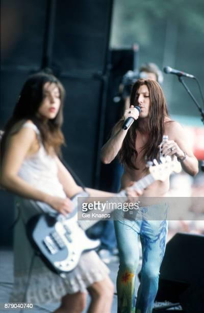 Paz Lenchantin A Perfect Circle Maynard James Keenan performing on stage Rock Werchter Festival Werchter Belgium 2nd July 2000