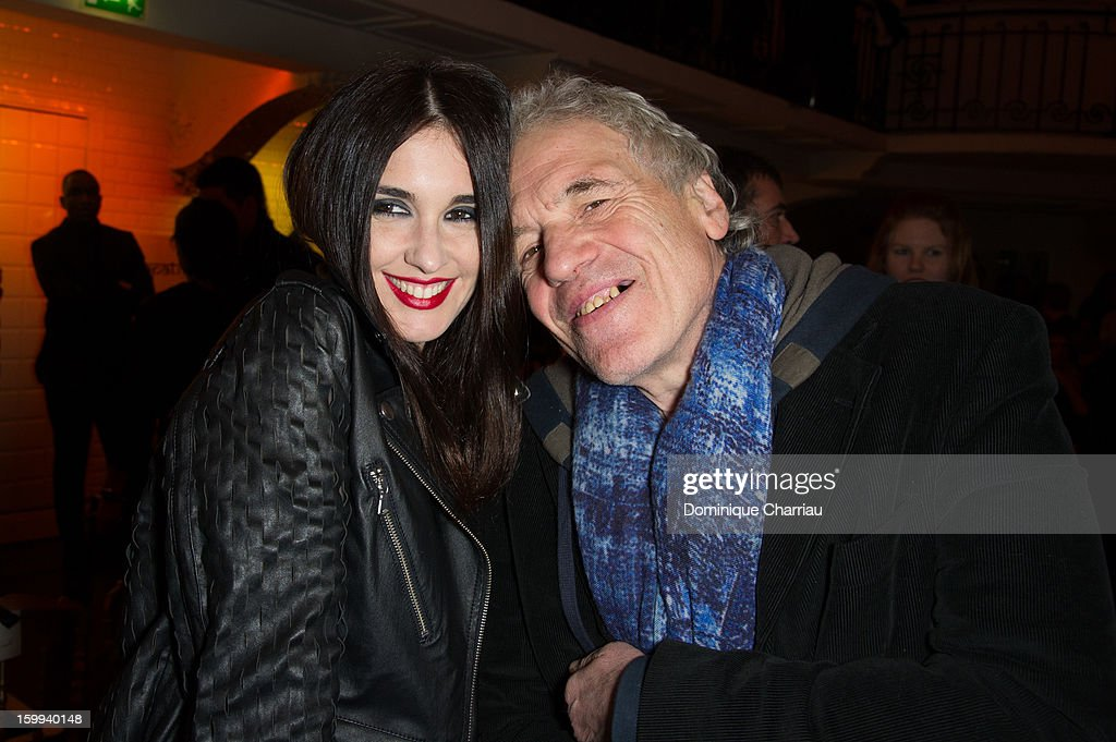 Paz Vega and Abel Ferrara attend the Jean-Paul Gaultier Spring/Summer 2013 Haute-Couture show as part of Paris Fashion Week at on January 23, 2013 in Paris, France.