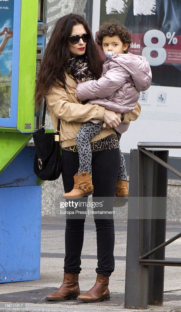 <a gi-track='captionPersonalityLinkClicked' href=/galleries/search?phrase=Paz+Vega&family=editorial&specificpeople=208840 ng-click='$event.stopPropagation()'>Paz Vega</a> and daughter Ava Salazar is seen on December 26, 2012 in Madrid, Spain.
